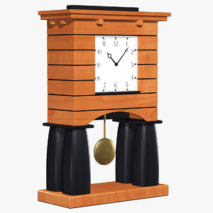 3d clock designed architect