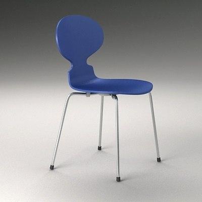 chair arne 3d model