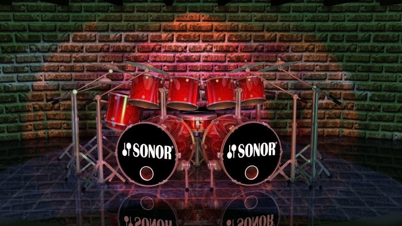 rock drum set style max
