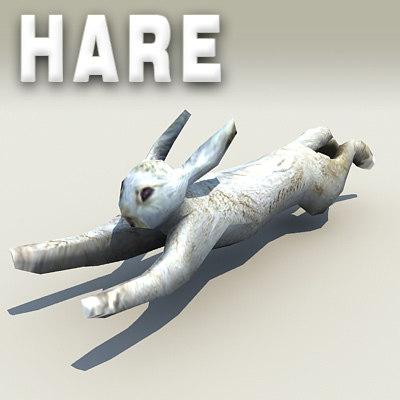 hare 3d obj