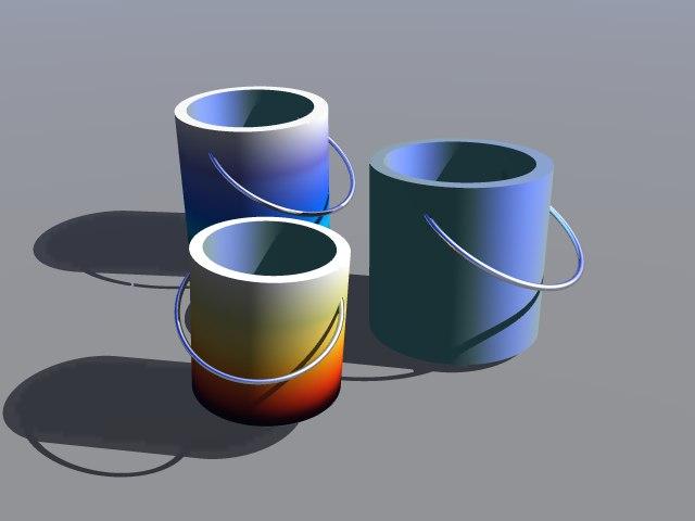 3d paint buckets