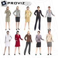 3D People: Business Woman Vol. 01