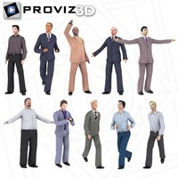 3ds max people business men