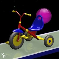 children bicycle 3d model