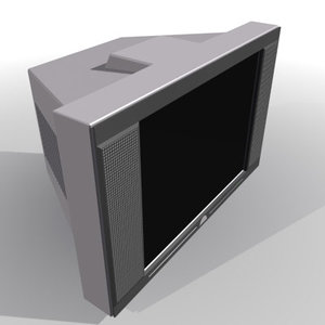 3ds max television set