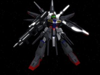 free zgmf-x13a providence gundam suit 3d model