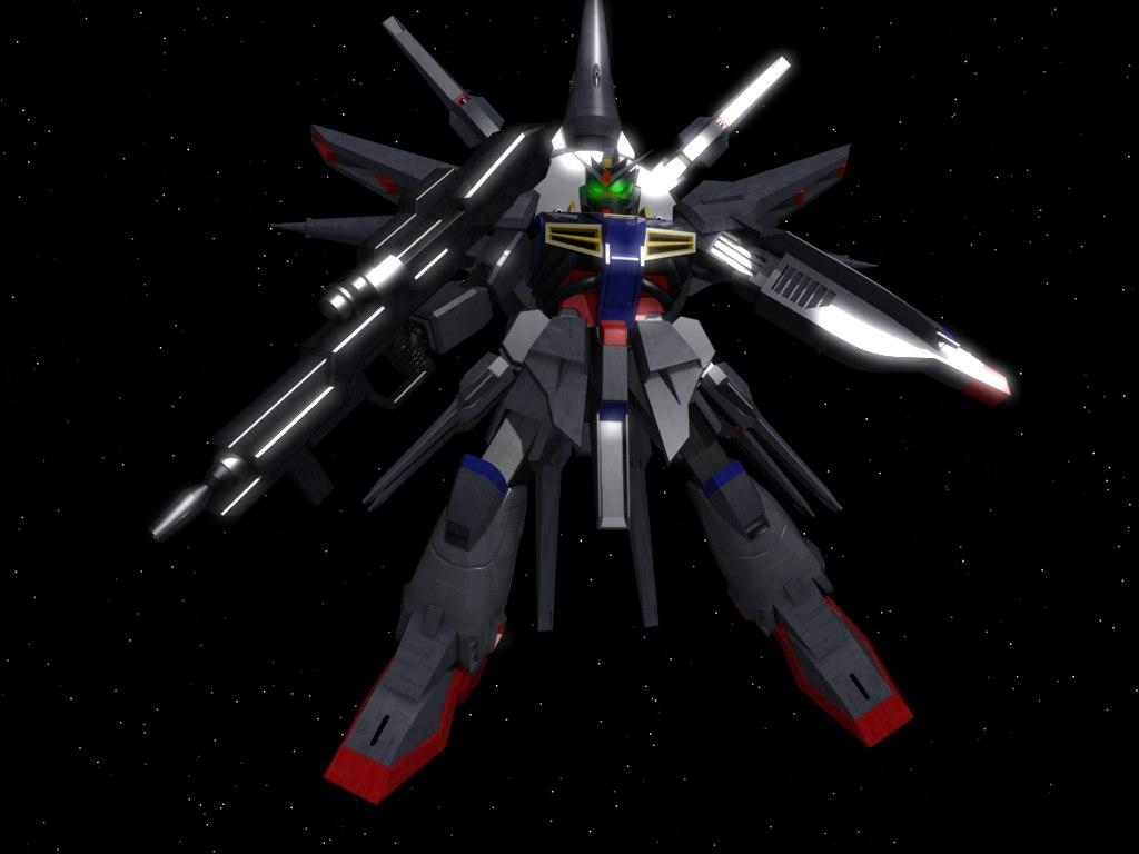 free zgmf-x13a providence gundam suit 3d model