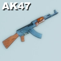 3d odel ak47 assault rifle