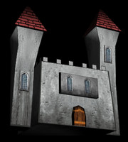 free fantasy castle 3d model