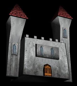 free fantasy castle 3d model