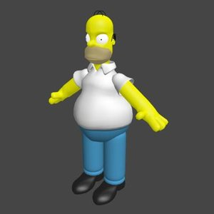homer cartoon 3d model