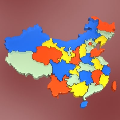 china states 3d model