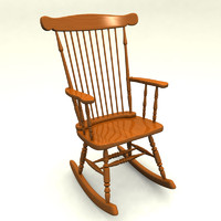 Classic Wood Rocking Chair.max