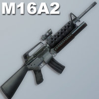 m16a2 rifle sight 3d 3ds