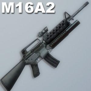 m16a2 rifle sight 3d 3ds