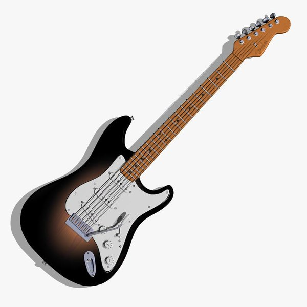 maya guitar fender stratocaster