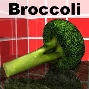 broccoli shish kebob 3d max