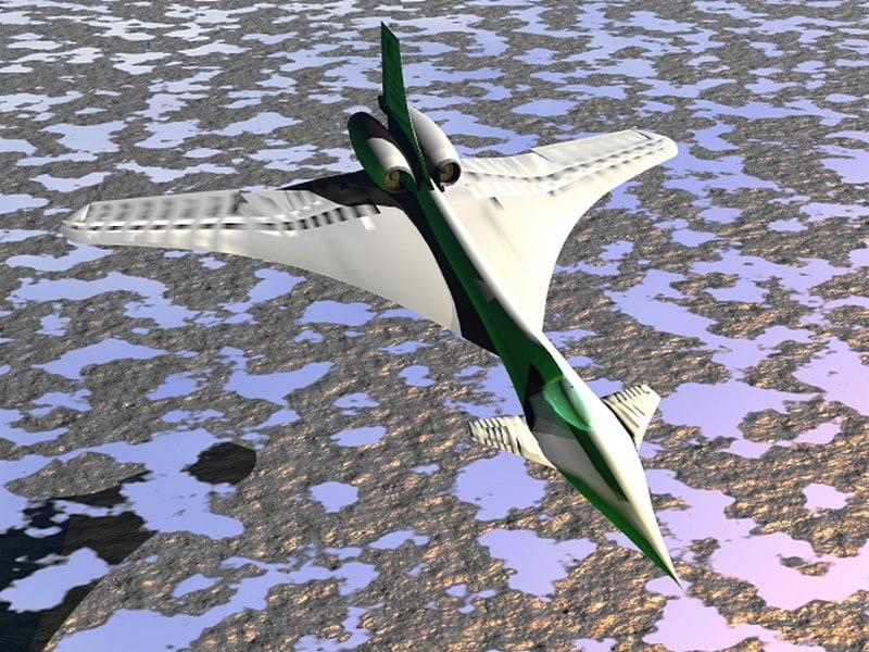 jet glider aircraft 3d 3ds