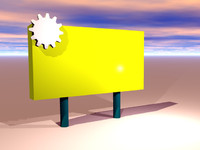 3d billboard road sign model