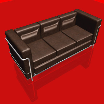 3d model of le corbusier sofa chair