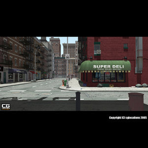 street buildings road 3d model