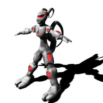 3d model d-type alien