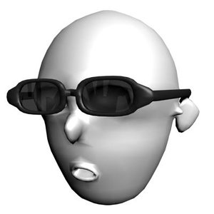 3d model glasses sunglasses sun