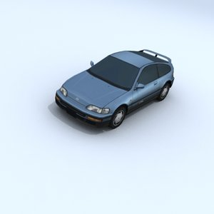 honda cr-x vehicle car 3d model
