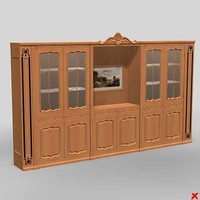 3d bookcase cabinet model