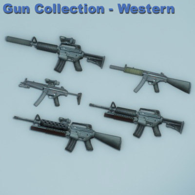 3ds max western m4a1