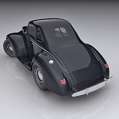 classic coupe 1940 3d max