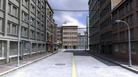 City Street Model - Textured