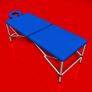 massage table 3d model