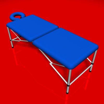 massage table 3d model