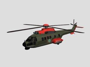 3d aerospatiale 332 super puma model