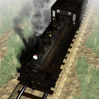 3d model omaha 0-6-0 locomotive tender