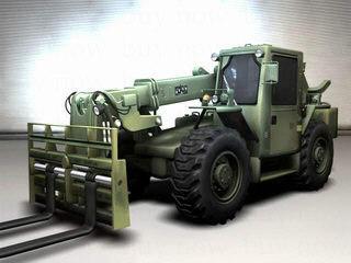 3d military forklift model