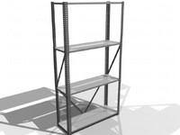 3d model metal shelves