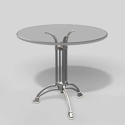 3d max table glass