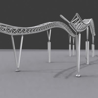 3d model steel structure truss