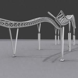 3d model steel structure truss