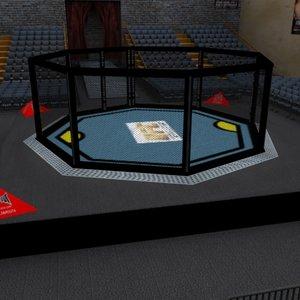 octagon ufc cage 3d max