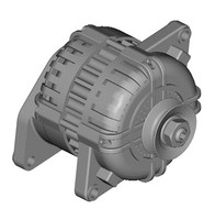 3d automobile alternator model