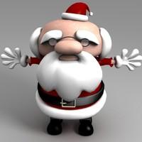 santa claus present 3d model