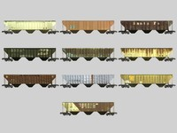 3d model railroad hopper car train