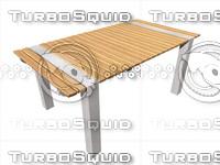 modern design garden table 3ds