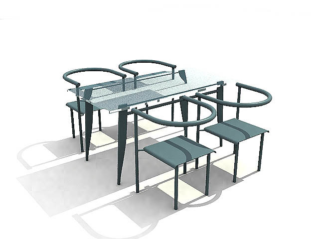 3ds max chair table