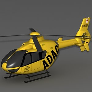 ec-135 helicopter 3d max