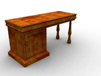 Oldstyle wooden work desk