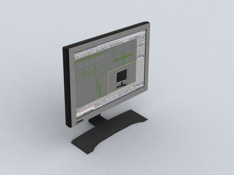 3d lcd display benq fp71w model